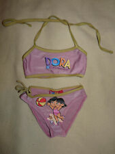 Maillot de bain bikini deux pièces DORA l'exploratrice rose et jaune 4 ans - BE