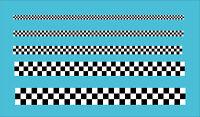 "Checkered Black White Tape .5"" 13mm Wide Car Motorbike Vinyl Sticker Decal 3 Sq"