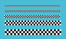 "Checkered Black White Tape .75"" 18mm Wide Car Motorbike Vinyl Sticker Decal 3 Sq"