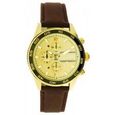 Relojes de pulsera de oro de cuero cronógrafo
