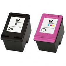 Refilled HP 62 Black And HP62 Colour Ink Cartridges C2P04AE C2P06AE