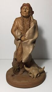 Tom Clark Retired 1983 AMERICAN INDIAN 1899 Clay Sculpture #70 Native Southwest