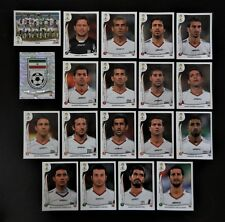 Panini FIFA World Cup Brazil 2014 Complete Team Iran + Foil Badge