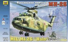 "MIL MI-26 ""HALO"" RUSSIAN HEAVY HELICOPTER ZVEZDA PLASTIC KIT 1/72"