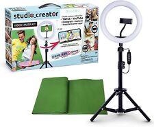 Studio Creator: Video Maker Kit w/ Smartphone Holder &  LED Ring Light