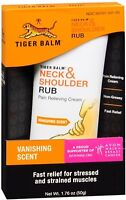 Tiger Balm Neck - Shoulder Rub Vanishing Scent 1.76 oz (Pack of 4)