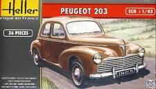 Heller - Peugeot 203 Francia modelo equipo de construcción 1:43 punta Sedán 1955