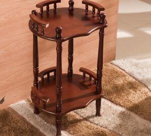 Wooden Display Rack Coffee Table Corner Shelf Home Furniture Classic Decorations
