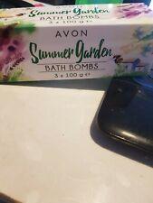 new and boxed avon summer garden bath bombs 3 x 100g