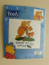 Disney's Winnie the Pooh Counted Cross Stitch Kit 'Friends are for Leaning'