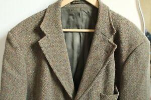 HARRIS TWEED M&S Checked Men's Jacket UK 44L, Euro 112