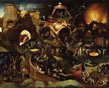 Vintage Christ in Limbo by Hieronymus Bosch Giclee Canvas Print 40x33