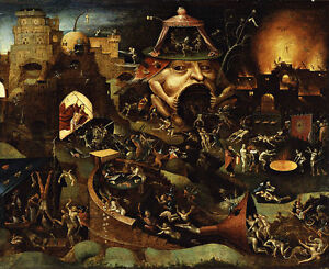 Christ in Limbo Vintage  Hieronymus Bosch Giclee Canvas Print 24x20