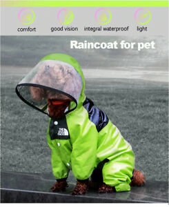 Pet Dog Raincoat Waterproof Dog Jacket Face Pet Clothes Water Resistant Clothes