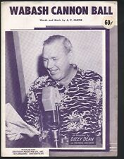 Wabash Cannon Ball 1939 Dizzy Dean If you can do it it ain't braggin Sheet Music