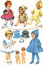 Vintage Doll Clothes PATTERN 7592 for 9 inch Teenie Weenie Tiny Tears 1960s