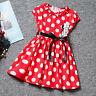 Baby Kids Girls Disney Minnie Mouse Party Dress Sleeveless Summer Skirt Clothing