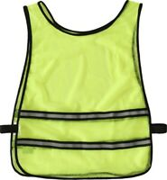 Trespass Yellow Hi Vis Safety Cycling Vest Bib With Elastic Side Tabs