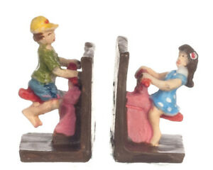 Dollhouse Miniature Color Seesaw Bookends