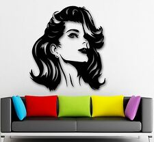 Wall Stickers Vinyl Decal Beauty Hair Salon Hot Sexy Girl Fashion (ig846)
