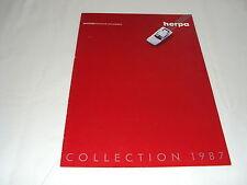 W/3/13/2 Modellauto Auto Katalog Prospekt Wagener Herpa Miniatur Collection 1987