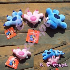 3PC Disney Stitch Angeles couple family glove plush set doll pendant keychain