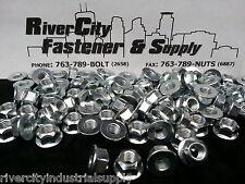 (10) M16-2.0 Metric Hex Flange All Metal Lock Nuts Class 10 DIN 6927 Zinc Plate