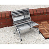 Charcoal Grill Table Portable Barrel Stainless Steel BBQ Garden Camping Picnic