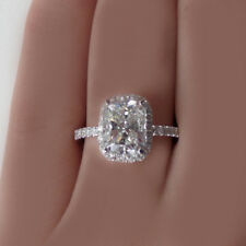 GIA Certified Radiant Cut Diamond Engagement Ring Platinum 2.10CTW