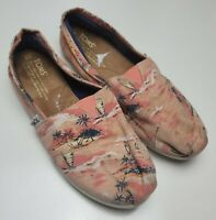 TOMS  Multi-Color  Fabric  Loafers  Women's 5