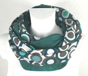 Baumwoll Loop Schal: Punkte, dots von grün über grau bis weiß