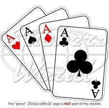 Casino Spielkarten  vier Asse  Stossstangen Aufkleber