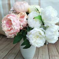 5 Heads Blume Künstlich Silk Peonies Christmas Decor Wedding Home Party Decor