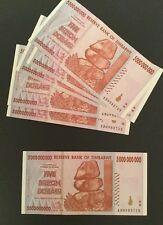 Five Billion Dollar Zimbabwe Notes .  Used.