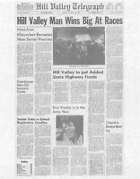 1985 Back To The Future Hill Valley Telegraph > Wins Big At Races >Biff >Replica