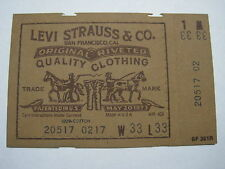 VTG 1970s LEVI'S 517 (20517-0217) Made in USA Men's 33x33 Jeans Unused Label Tag