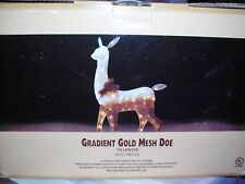 Gradient Gold Mesh Lighted Doe 42 Inch 70 Lights