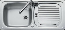 Rangemaster Euroline 1.0 Single Bowl Stainless Steel Kitchen Sink EL860 & Waste