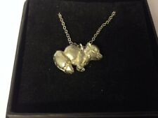 """Fox GT106 Pewter On 18"""" Silver Plated Curb Necklace"""