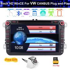Car Stereo 8'' Radio GPS Sat Navi CD DVD Player For VW Golf MK5 MK6 Tiguan Caddy