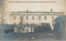Greencastle PA * Omwake Bros. Four Kiln Evaporator RPPC 1912 Franklin Co.