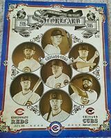 Chicago Cubs Commemorative 100 years at Wrigley Field Scorecard David Ross