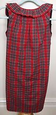 WOODFORD & Co New $319.95 Red Tartan SERENA Sleeveless Deep Scoop Back Dress 8
