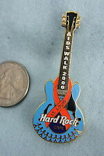 HARD ROCK CAFE PIN ST. LOUIS AIDS WALK 2000 BLUE GUITAR WITH RIBBON