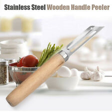 Potato Vegetable With Wooden Handle Planing Slices Peeling Knife Scraper Peeler
