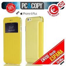 FUNDA LIBRO TAPA DURA VENTANA LLAMADA IPHONE 6 6S PLUS FLIP COVER BOOK CASE COLO