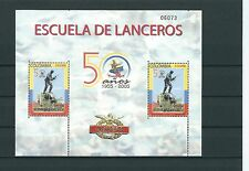 COLOMBIA 2005 ESCUELA DE LANCEROS PHILATELIC SHEET 2 STAMPS MNH