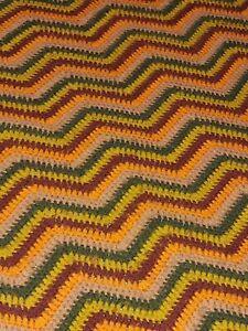 "Beautiful Vintage HandMade Afgan Twin Blanket  76""X54"""