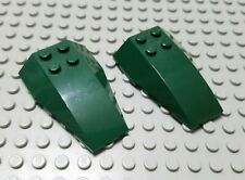 LEGO Lot of 2 Lime Green 6x4 Cockpit Front Wedge Pieces