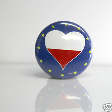 2 Badges Europe [25mm] PIN BACK BUTTON Pologne Polska